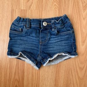 Oshkosh girls denim lace shorts